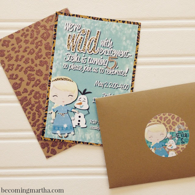 An Elsa / Cheetah Mash-Up Party at BecomingMartha.com!