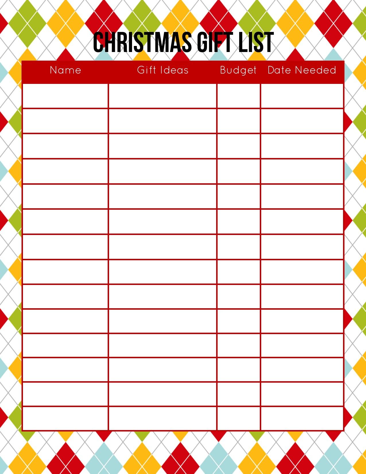 photograph regarding Christmas Planner Printable known as Free of charge Xmas Planner - Down load Your Replica By now