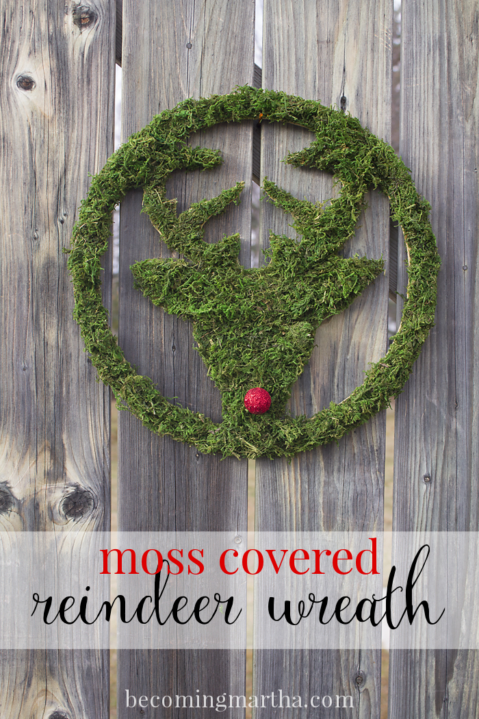 Download Moss Covered Deer Wreath - The Simply Crafted Life