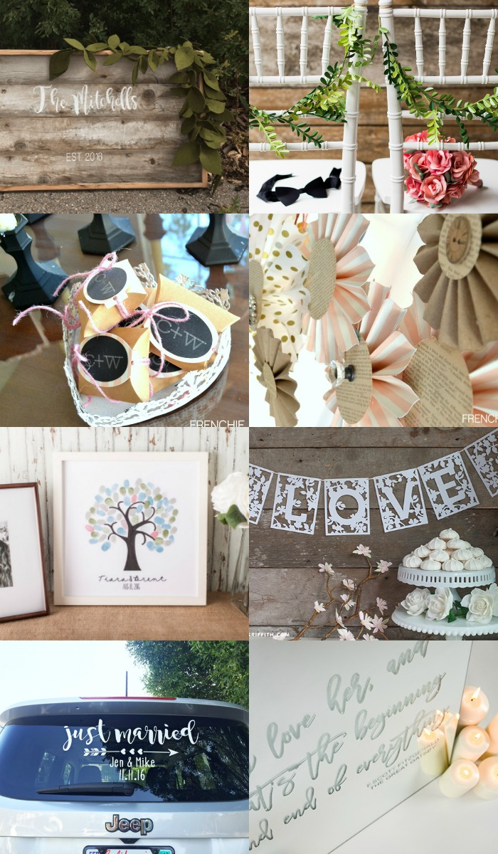 How a Cricut Wedding will help save you both time and money on decorations, flowers, paper items, and more, while still creating the day of your dreams!