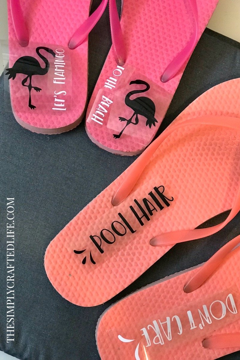 Have you ever wondered how to apply iron on vinyl to flip flops? Or didn't even realize it was a possibility? This post will show you how easy it is!