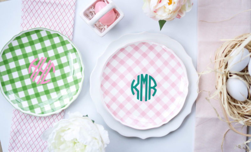 Monogram Easter Table Setting