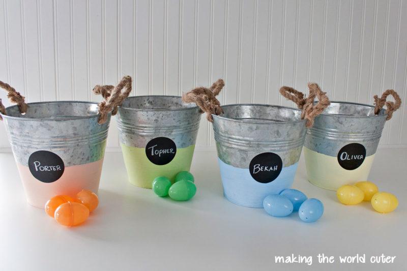 Color Blocked Easter Baskets