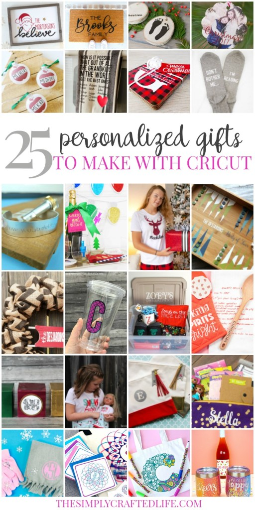Personalized christmas gifts with Cricut