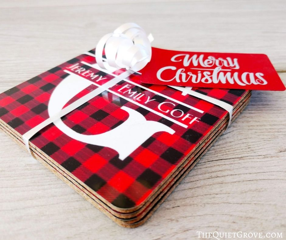 infusible ink coasters christmas gift