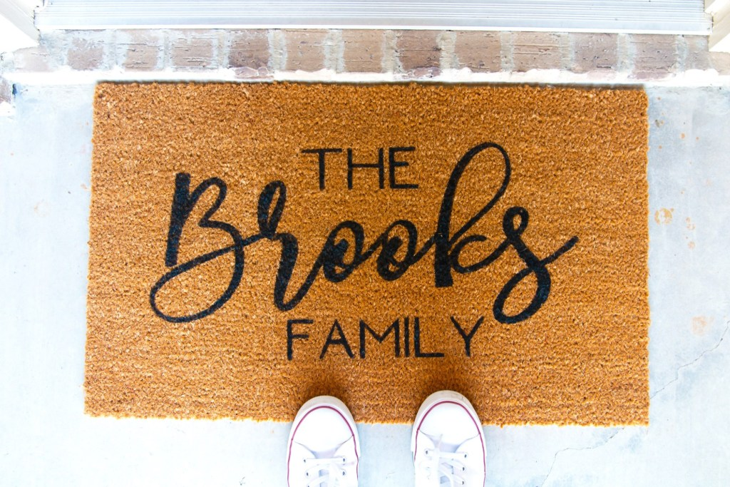 diy personalized door mat