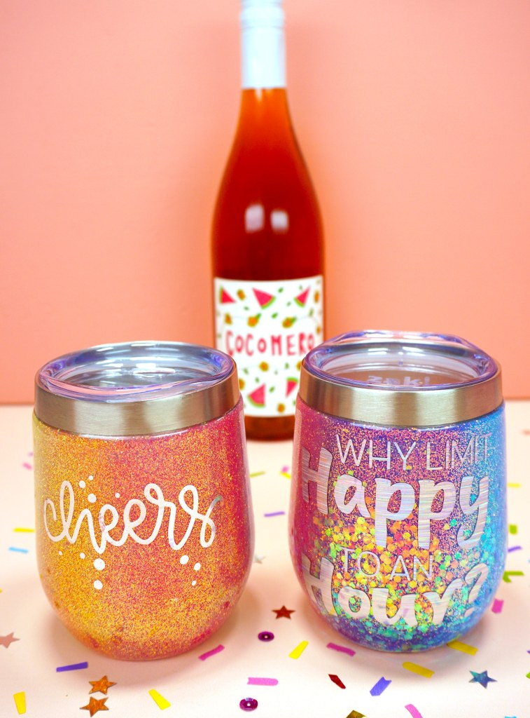 rainbow glitter tumblers personalized christmas gifts