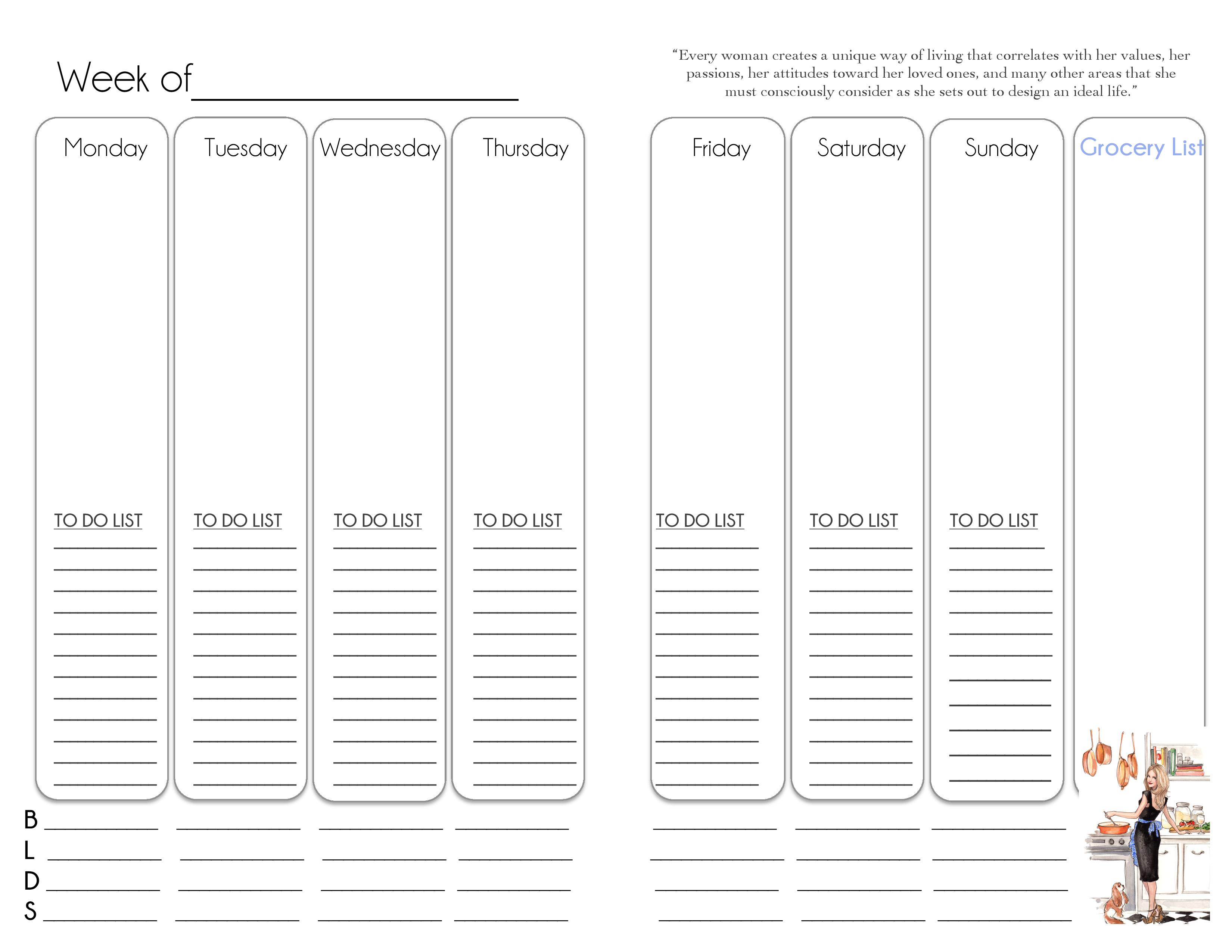 Classic Week At A Glance Pages To Do List The Simply