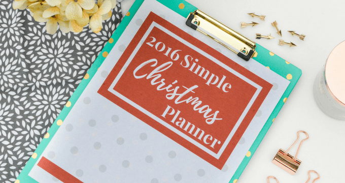 The 2016 Simple Christmas Planner