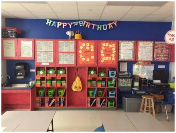 Classroom Organization- Storage of student materials in classroom cubbies. Materials are easy for kids to find and put away!