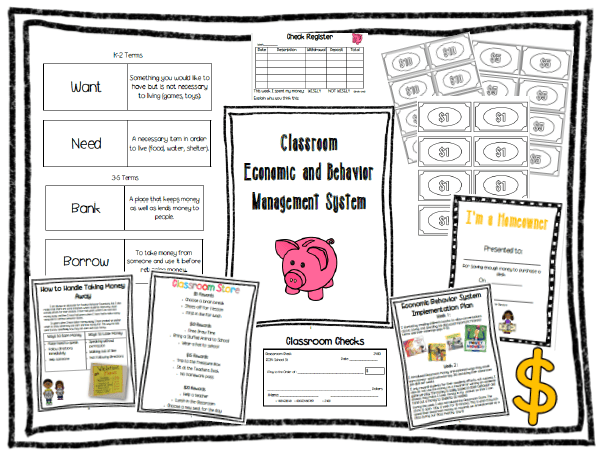 Classroom Management Series- behavior management. Classroom economic system to manage student behavior and reinforce financial literacy concepts.
