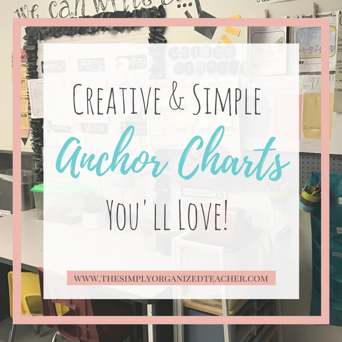 Creative (and simple!) Anchor Chart Ideas You'll Love!