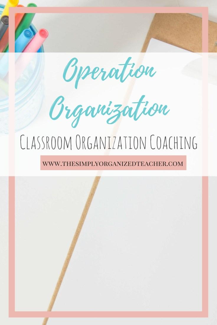 Operation Organization: Classroom Organization Coaching