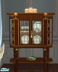 lisa9999's Blue Dining Small China Cabinet