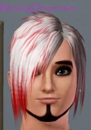 bleedingdesperation's emo hair