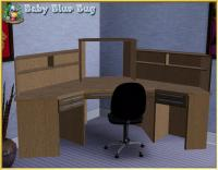 babybluebug's bbb Office Max Deluxe Corner Desk with Hutch
