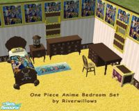Riverwillows' One Piece Anime Bedroom Set