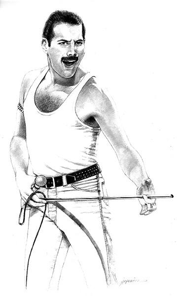TSR Archive's Freddie Mercury Drawing