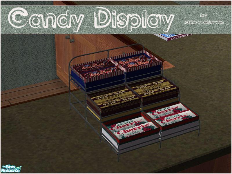 wideopeneyes candy bar display rack