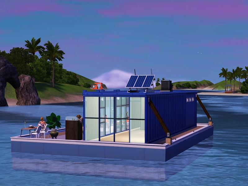 timi72s Shipping Container Houseboat