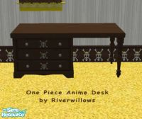 Riverwillows' One Piece Anime Bedroom Set - Desk