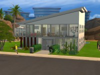 Modern Fountain & Garden House for Sims 4
