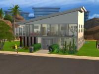 Modern Fountain & Garden House for Sims 4