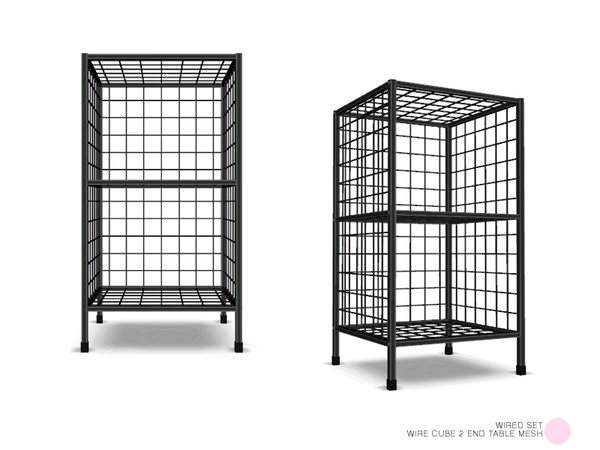 DOT's Wire Cube 2 End Table Mesh