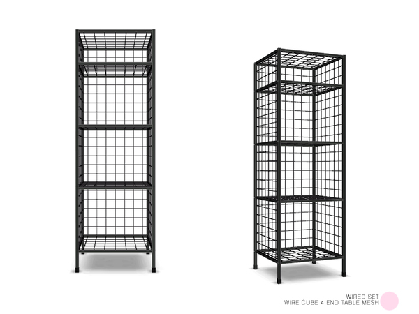DOT's Wire Cube 4 End Table Mesh