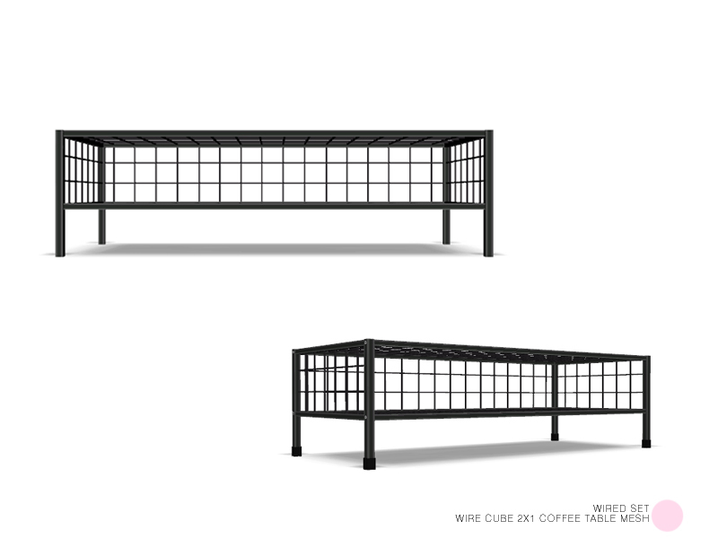 DOT's Wire Cube 2x1 Coffee Table Mesh