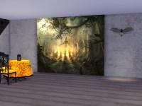 Neferu's Halloween Wall Mural