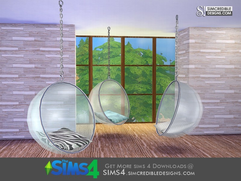 hanging chair the sims 4 outdoor rocking covers simcredible s terrace bubble