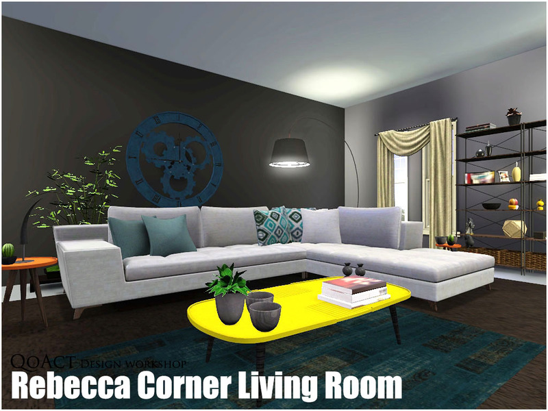 QoActs Rebecca Corner Living Room