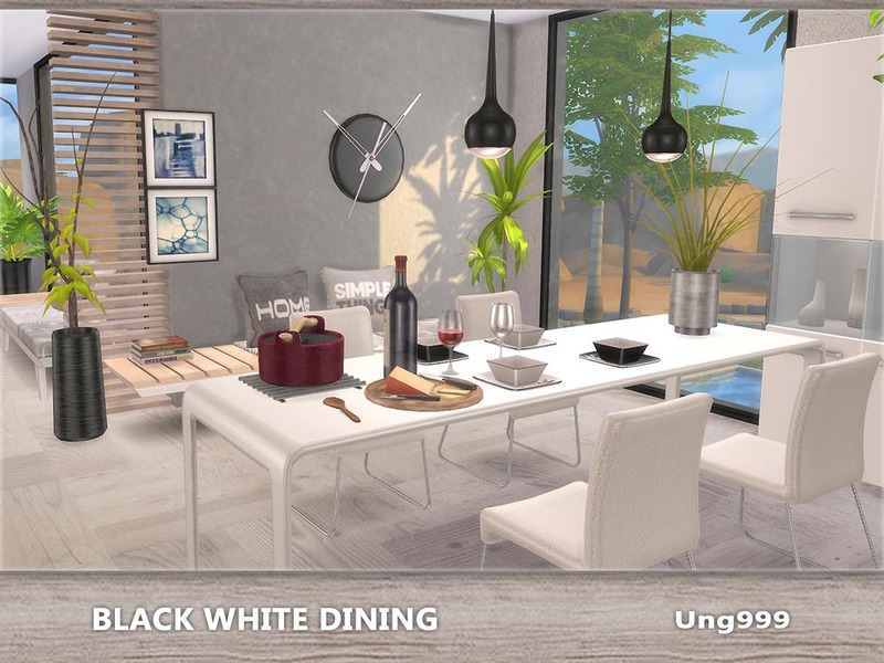 Ung999s Black White Dining