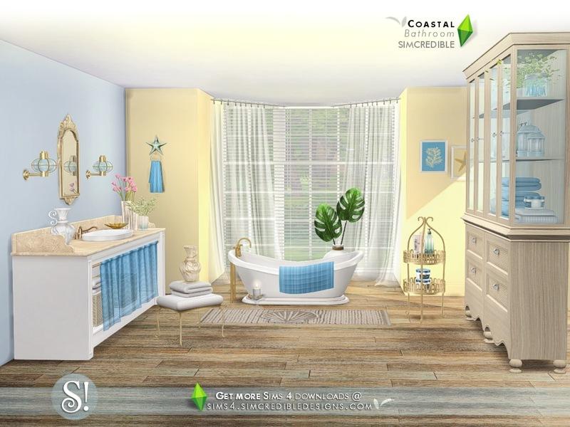 SIMcredibles Coastal Bathroom