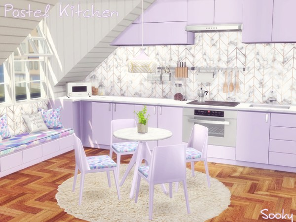pastel kitchen Sooky's Pastel Kitchen [Mesh Needed]