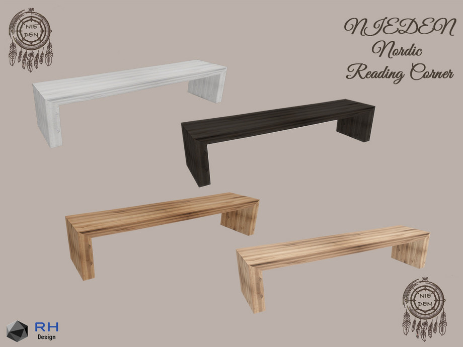 nieden nordic wooden narrow coffeetable