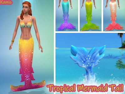 Radea's Tropical Island Living Mermaid Tail Recoulour