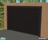 windkeeper's Flat garage door - black metal