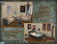 Vanilla Sim's VS Grunge Living & Bedroom
