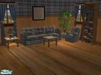 mightyfaithgirl's Barn Wood and Plaid Country Livingroom Set