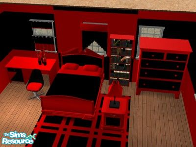 sapphy75 s black and red bedroom set