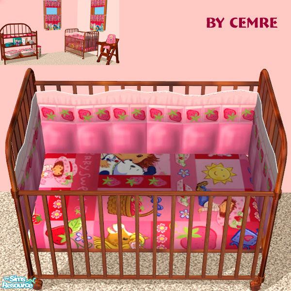 Cemre S Strawberry Shortcake Set Crib Bedding