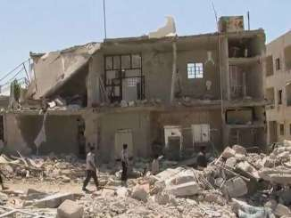 A building in Syria that was wrecked by the ongoing war
