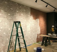 How To Create A Faux Brick Wall With Paneling | Exposed ...
