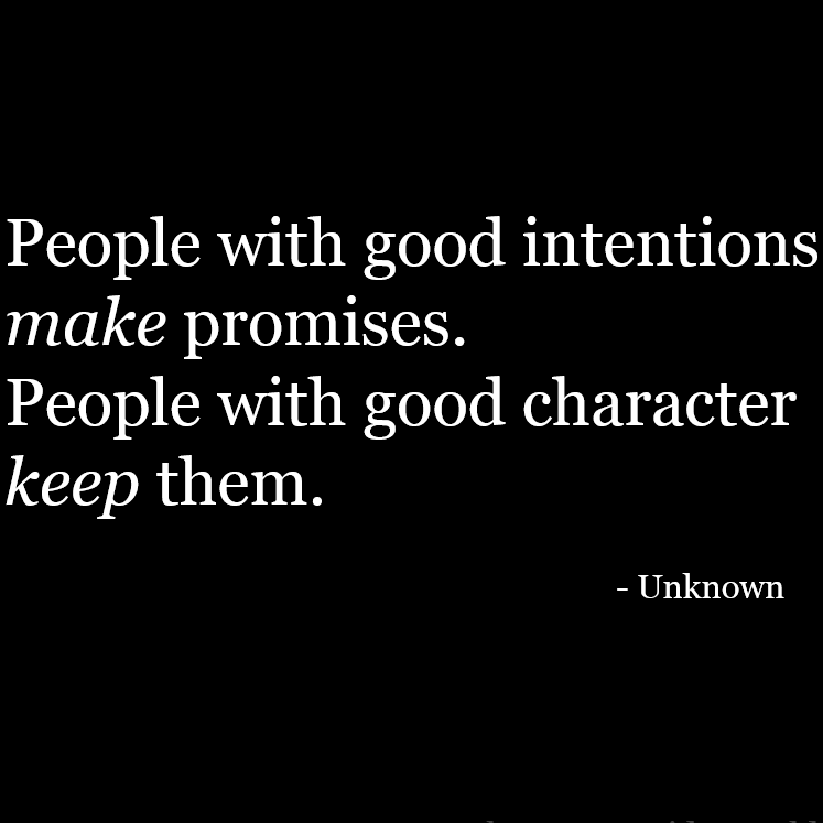 Keeping Promises Keeps You In Integrity