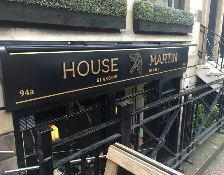 House Martin Barbers Glasgow