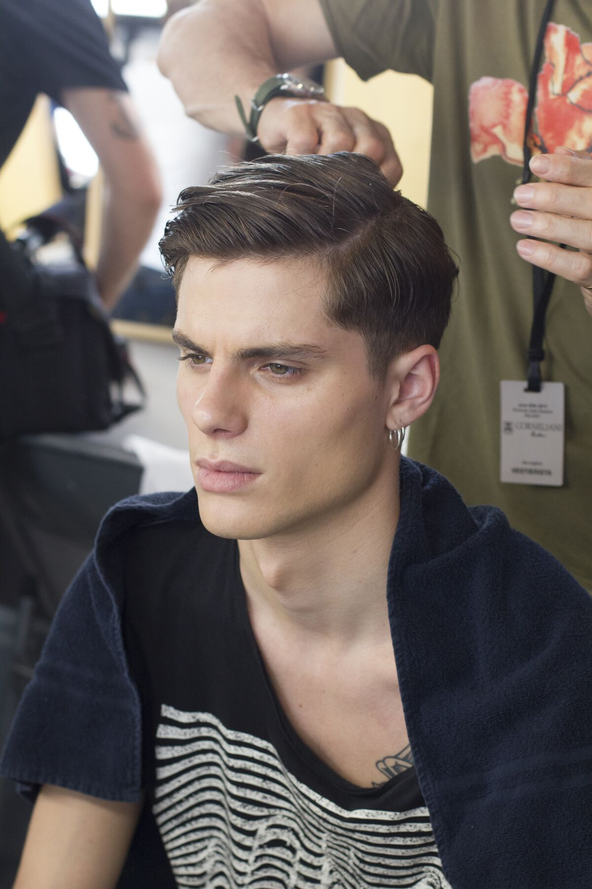 BACKSTAGE CORNELIANI SPRING SUMMER 2014 MENS COLLECTION