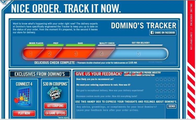 Dominos Tracker 2