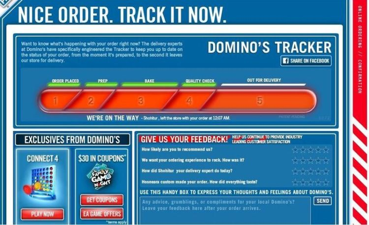 Dominos tracker 3